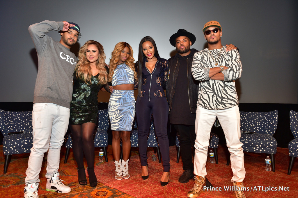 Cast of 'Growing Up Hip Hop' (l to r: Boogie Dash, Kristina Debarge, Egypt Criss, Angela Simmons, TJ Mizell, Romeo Miller)