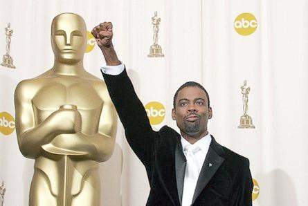 chris rock & oscar statue