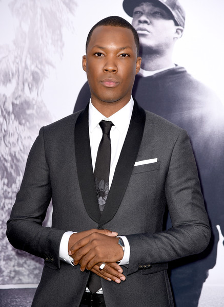 """Actor Corey Hawkins arrives at the premiere of Universal Pictures and Legendary Pictures' """"Straight Outta Compton"""" at the Microsoft Theatre on August 10, 2015 in Los Angeles, California."""
