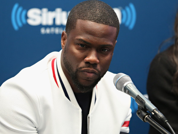 """Kevin Hart takes part in SiriusXM's """"Town Hall"""" with Kevin Hart, Ice Cube and Olivia Munn at the SiriusXM Studios on January 13, 2016 in New York City."""