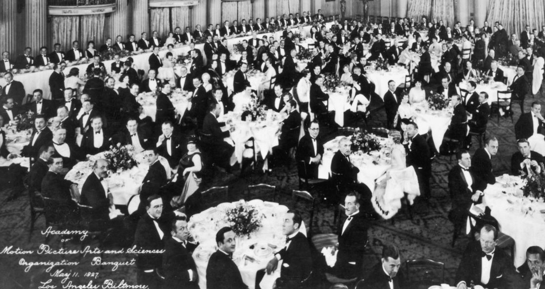 L.A. Times: The Academy of Motion Picture Arts and Sciences, seen here at its first organizational meeting in 1927, remains largely white and male. (Hulton Archive / Getty Images)