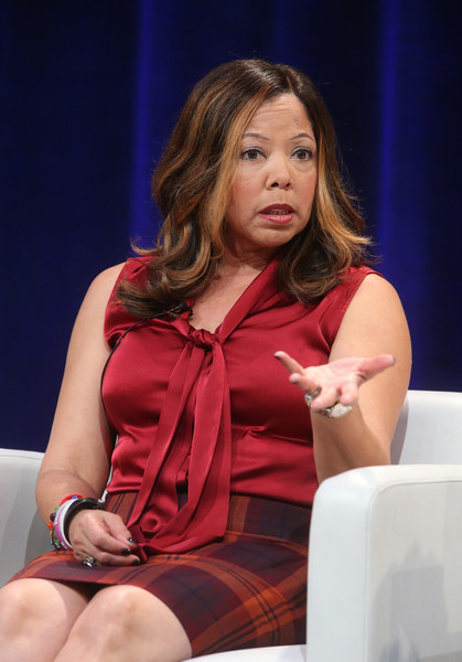 Lucy McBath, film subject, speaks onstage during INDEPENDENT LENS' 'The Armor of Light' panel as part of the PBS portion of the 2016 Television Critics Association Winter Press Tour at Langham Hotel on January 18, 2016 in Pasadena, California.