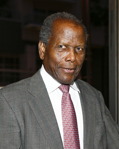 """Actor Sidney Poitier attends """"MOTOWN THE MUSICAL"""" at the Pantages Theatre on April 30, 2015 in Hollywood, California."""