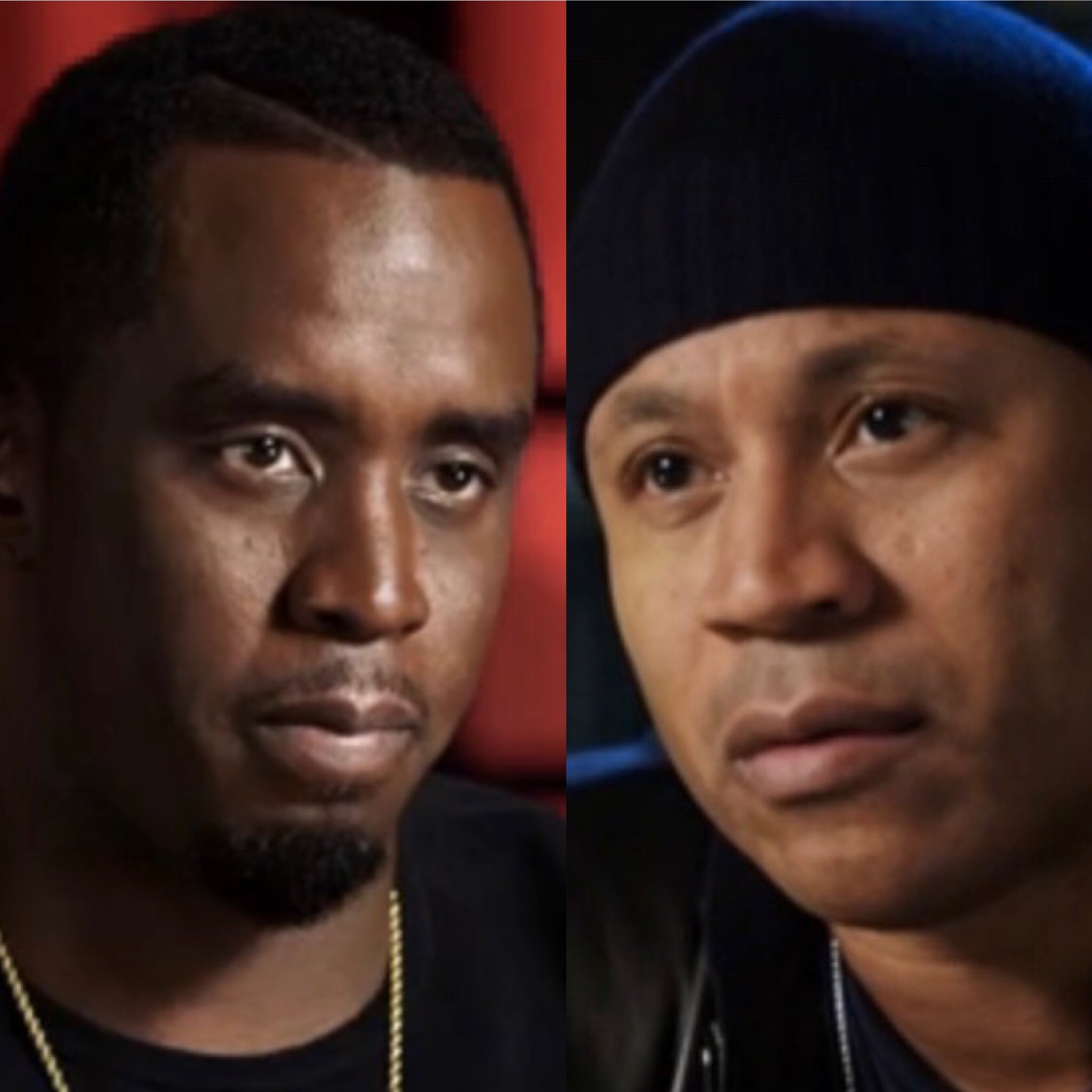 """Sean """"Diddy"""" Combs (L) and LL Cool J on """"Finding Your Roots"""" (PBS)"""