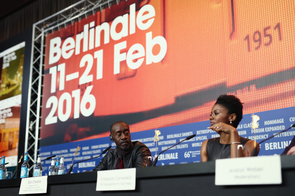 Director Don Cheadle and actress Emayatzy Corinealdi attend the 'Miles Ahead' press conference during the 66th Berlinale International Film Festival Berlin at Grand Hyatt Hotel on February 18, 2016 in Berlin, Germany.