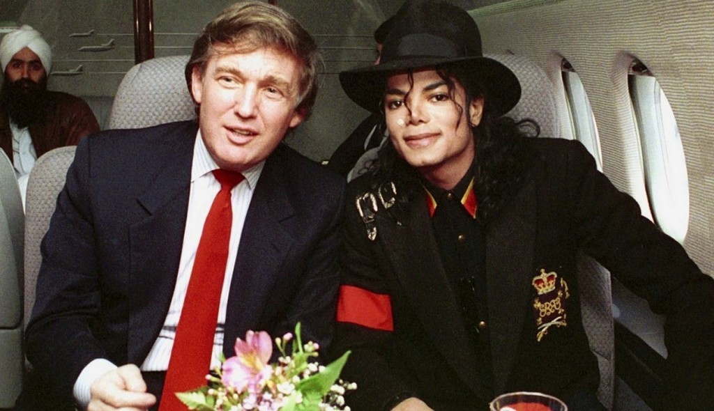 Donald Trump and Michael Jackson back in the day