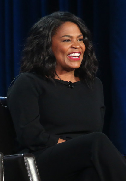 Actress Nia Long speaks onstage during ABC's Uncle Buck panel as part of the ABC Networks portion of the 2016 Television Critics Association Winter Tour at Langham Hotel on January 9, 2016 in Pasadena, California.