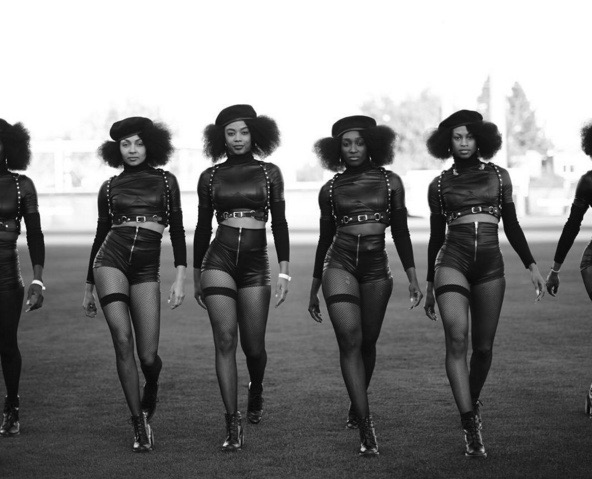 Beyonce's Background Dancers rehearse for the Super Bowl 50 Half Time Show