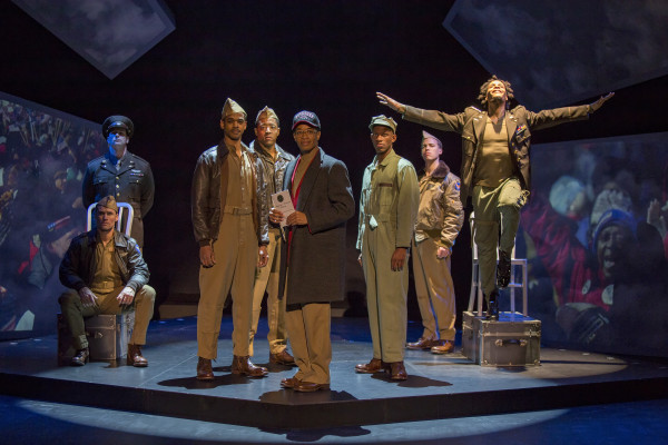 """The cast of """"FLY"""" at The Pasadena Playhouse. Photo by: Jim Cox Photography"""