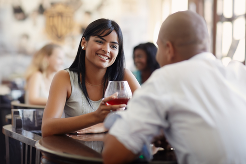couple on date (glass of wine)
