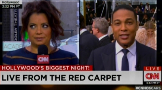 Don Lemon (R) and Michaela Pereira of CNN