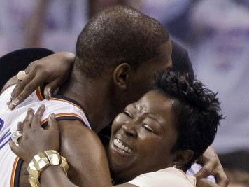 kevini durant and mom
