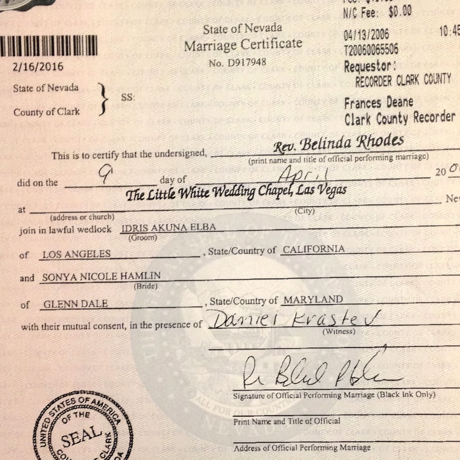 Idris Elbas Secret 2nd Marriage To Maryland Lawyer Revealed Report