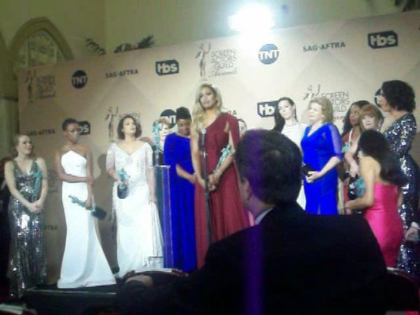 Netflix's 'Orange is the New Black' cast wins 'Outstanding Performance by an Ensemble in a Comedy Series' SAG Award.