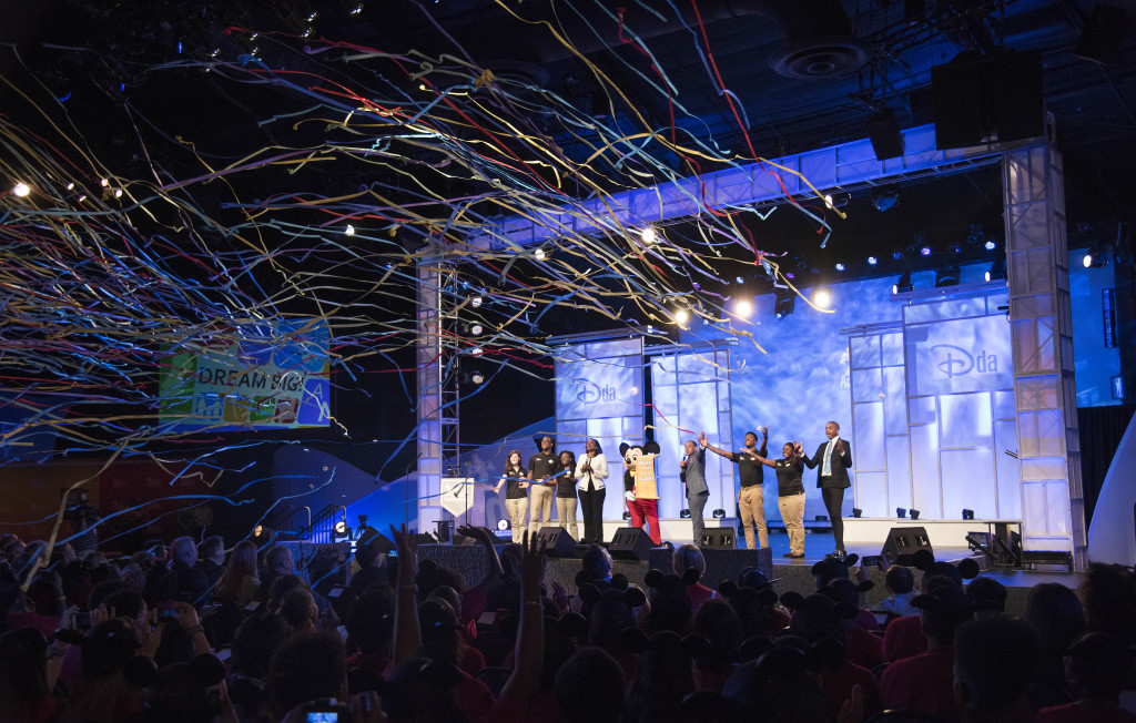 Disney Dreamers Academy welcome ceremony ends in confetti.