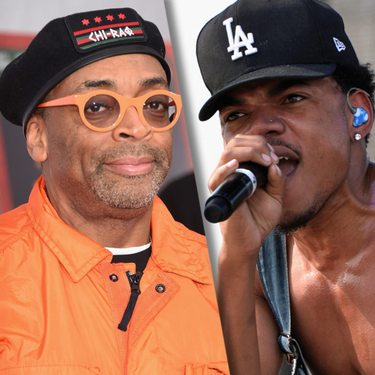 Spike Lee (L) and Chance the Rapper