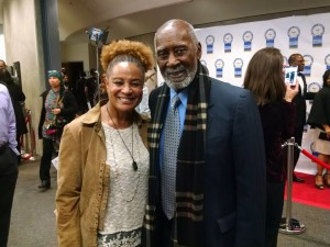 DeBorah B. Pryor with the Honorable Nate Holden, at the NAACP Theatre Awards: Nate Holden Performing Arts Center/Ebony Repertory Theatre