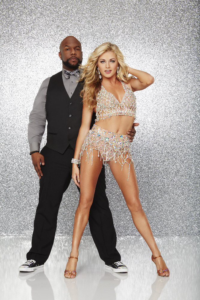 """DANCING WITH THE STARS - WANYA MORRIS AND LINDSAY ARNOLD - The stars grace the ballroom floor for the first time on live national television with their professional partners during the two-hour season premiere of """"Dancing with the Stars,"""" which airs MONDAY, MARCH 21 (8:00-10:01 p.m., ET) on the ABC Television Network. (ABC/Craig Sjodin)"""