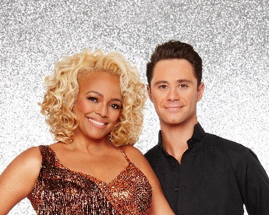 "DANCING WITH THE STARS - KIM FIELDS AND SASHA FARBER - The stars grace the ballroom floor for the first time on live national television with their professional partners during the two-hour season premiere of ""Dancing with the Stars,"" which airs MONDAY, MARCH 21 (8:00-10:01 p.m., ET) on the ABC Television Network. (ABC/Craig Sjodin)"