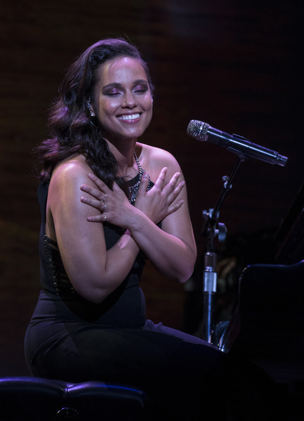 Recording artist Alicia Keys performs during the Starbucks Annual Shareholders Meeting on March 23, 2016 in Seattle, Washington.