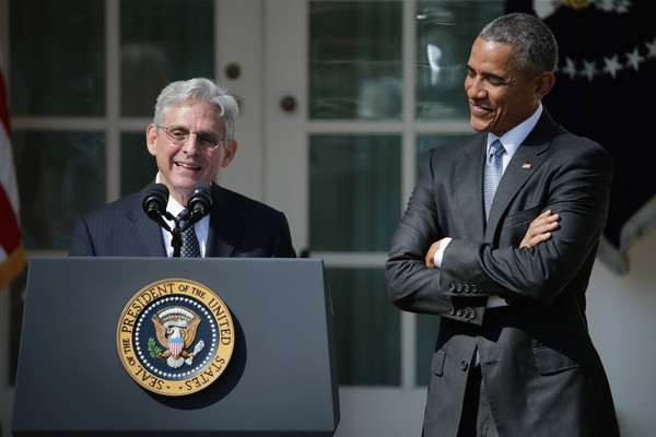 Judge Merrick Garland speaks after being introduced by U.S. President Barack Obama as his nominee to the Supreme Court in the Rose Garden at the White House, March 16, 2016 in Washington, DC.