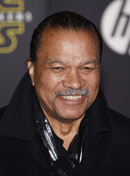 """Actor Billy Dee Williams attends the premiere of Walt Disney Pictures and Lucasfilm's """"Star Wars: The Force Awakens"""" at the Dolby Theatre on December 14, 2015 in Hollywood, California."""