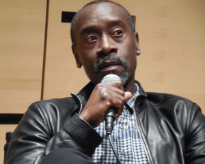 Don Cheadle speaking at Film Society of Lincoln Center.