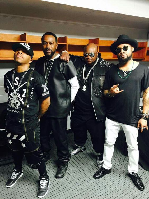 Dru Hill members Sisqo, Jazz, Tao, Nokio.