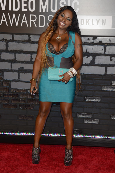 Foxy Brown attends the 2013 MTV Video Music Awards at the Barclays Center on August 25, 2013 in the Brooklyn borough of New York City.