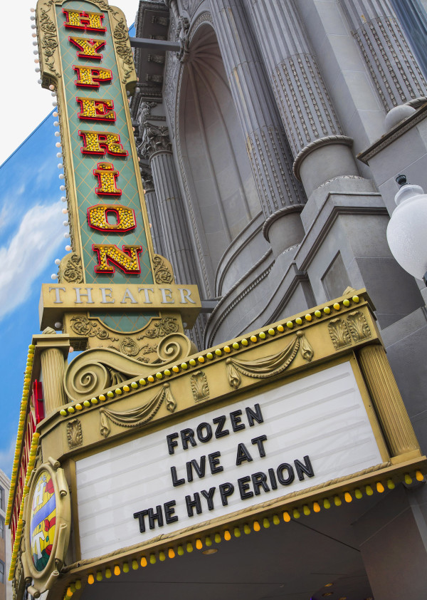 """'FROZEN – LIVE AT THE HYPERION' – """"Frozen – Live at the Hyperion,"""" a new musical based on the Walt Disney Animation Studios film """"Frozen,"""" will open at the Hyperion Theater at Disney California Adventure Park on May 27, 2016. The new musical at the Disneyland Resort will immerse audiences in the emotional journey of Anna and Elsa in an entertaining musical adaptation that includes elaborate costumes and sets, special effects, new technologies, show-stopping production numbers and unique theatrical surprises. (Paul Hiffmeyer/Disneyland Resort)"""