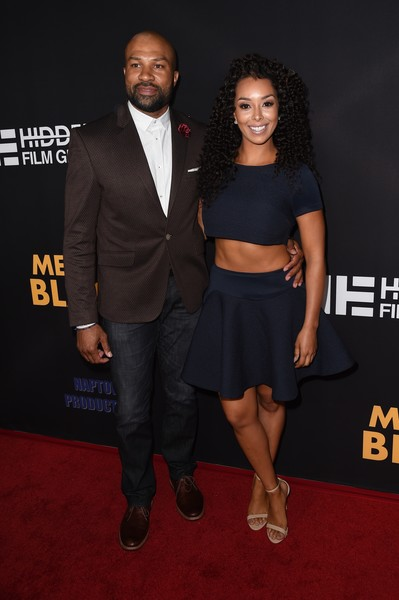 "Derek Fisher and Gloria Govan attend the Los Angeles premiere of ""Meet The Blacks"" March 29, 2016 at the Arclight Cinema in Hollywood, California. / AFP / ROBYN BECK"