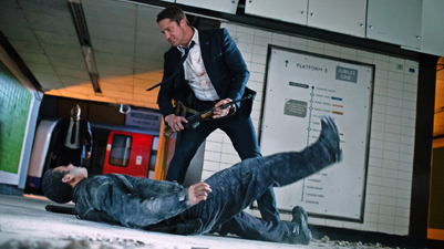 Gerard Butler take down terrorist.