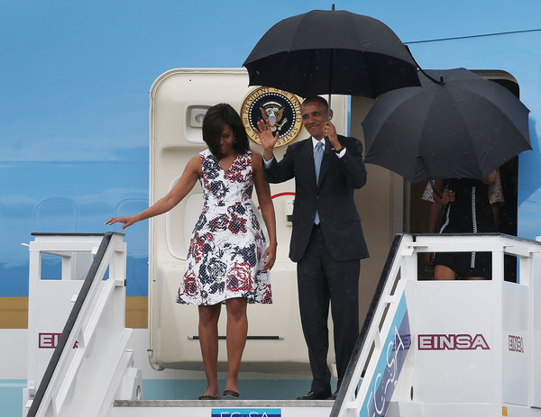 Michelle+Obama+President+Obama+Arrives+Cuba+rRUZ4ZO0ECNl