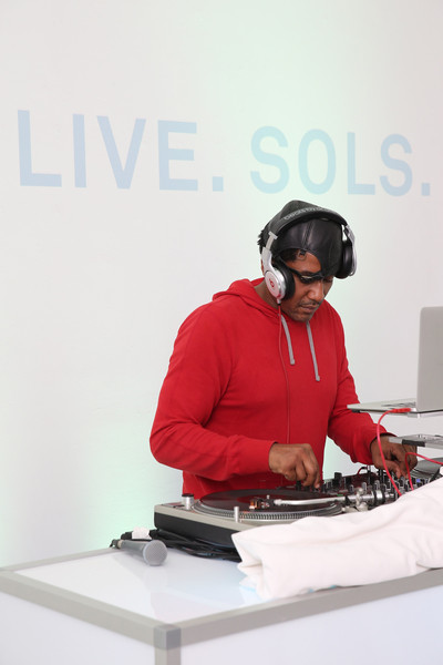 DJ/Producer Q-Tip attends the SOLS launch party for the new SOLS Flex on October 1, 2015 in New York City. SOLS Flex are bespoke 3D-printed insoles. #BeUnstoppable