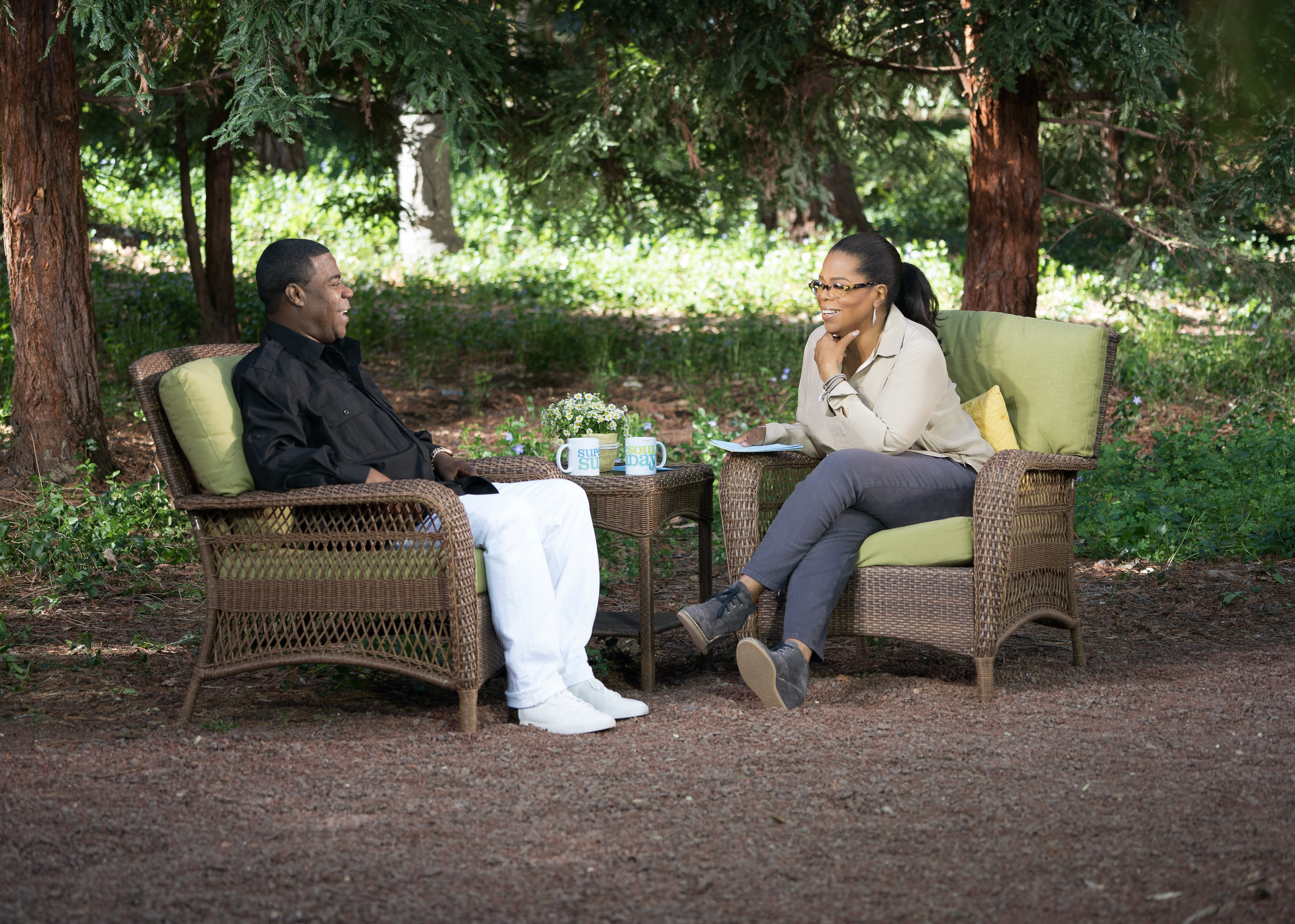 "Tracy Morgan and Oprah Winfrey on ""Super Soul Sunday"" (OWN)"