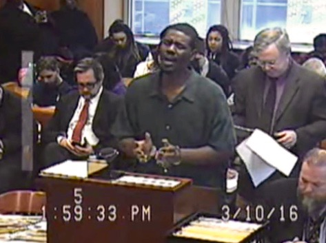 Brian Earl Taylor singing for his life before sentencing in Ann Arbor, MI (March 10, 2016)