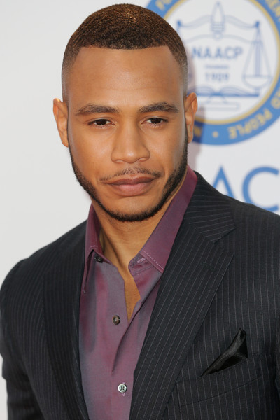 Actor Trai Byers attends the 47th NAACP Image Awards presented by TV One at Pasadena Civic Auditorium on February 5, 2016 in Pasadena, California.