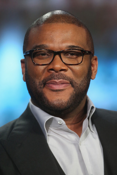 """Host/Narrator Tyler Perry speaks onstage during """"The Passion"""" panel discussion at the FOX portion of the 2015 Winter TCA Tour at the Langham Huntington Hotel on January 15, 2016 in Pasadena, California"""