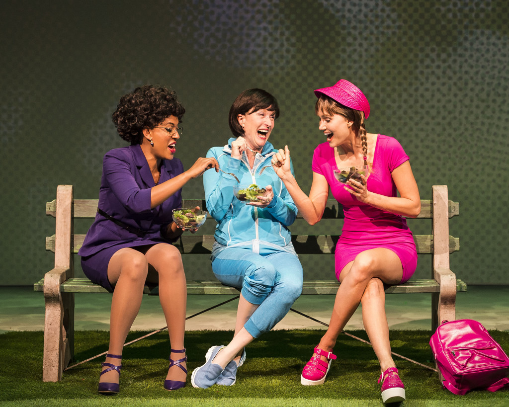 """L-R: Dinora Z. Walcott, Lisa Banes and Nora Kirkpatrick in """"Women Laughing Alone With Salad."""" Written by Sheila Callaghan and directed by Neel Keller, """"Women Laughing Alone With Salad"""" makes its West Coast premiere from March 6 through April 3, 2016, at Center Theatre Group's Kirk Douglas Theatre. For tickets and information, please visit CenterTheatreGroup.org or call (213) 628-2772. Contact: CTGMedia@CenterTheatreGroup.org / (213) 972-7376 Photo by Craig Schwartz."""