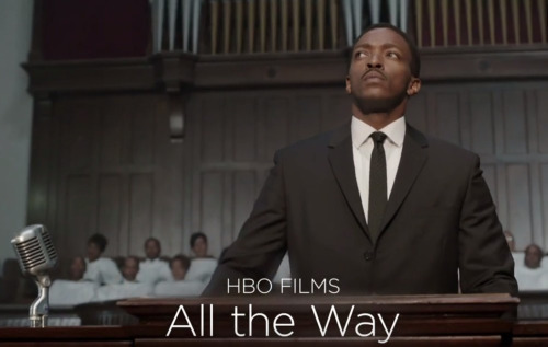 "Anthony Mackie as Dr. Martin Luther King Jr. in HBO's ""All The Way"""
