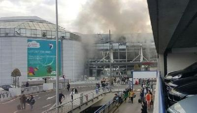 brussels airport after bombing