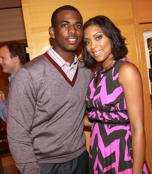 Chris and Jada Paul at the Louis Vuitton Store on July 1, 2010 in New Orleans, Louisiana.