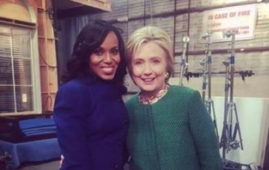kerry washington & hillary clinton