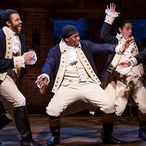 Okierete Onaodowan as Hercules Mulligan in Hamilton