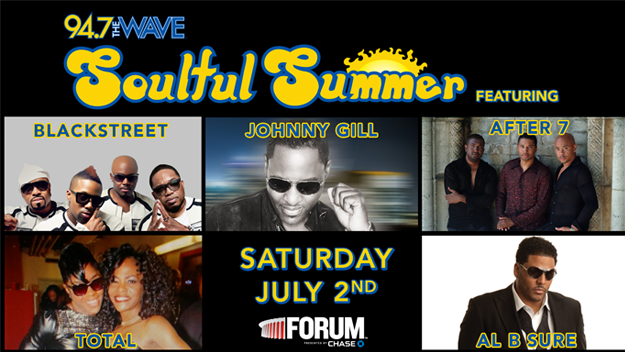 soulful summer, after 7, backstreet, total, al b. sure, 94.7, the wave