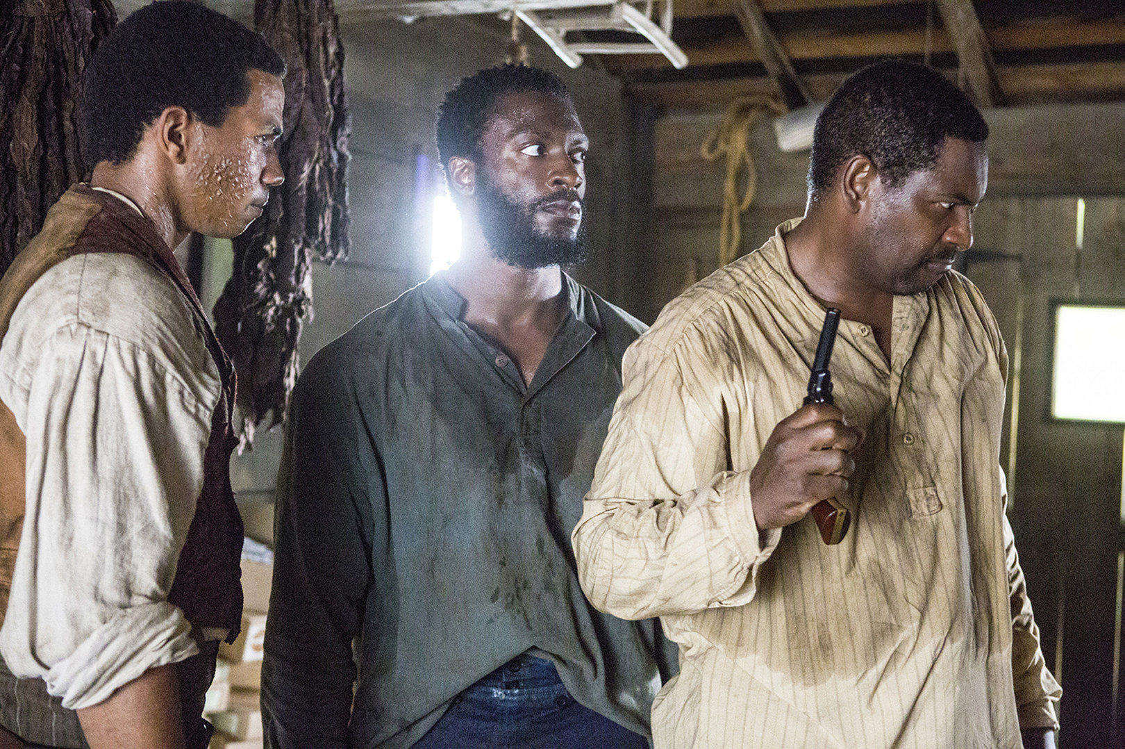 Cato (Alano Miller), Noah (Aldis Hodge), Moses (Mykelti Williamson) Poised For Action