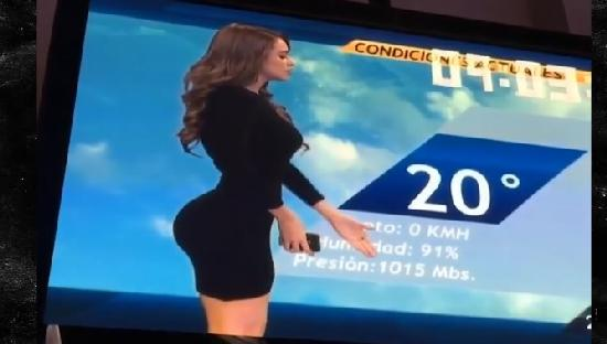 weathergirl with big butt