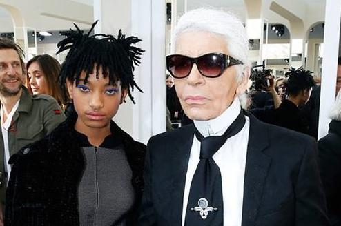 willow smith & karl lagerfeld