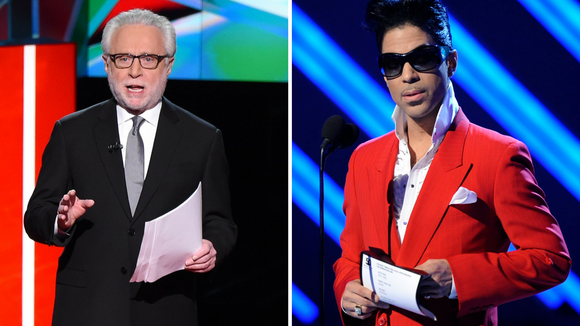 Wolf Blitzer and Prince