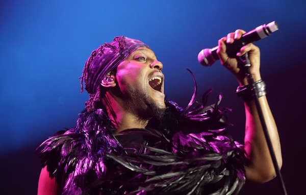 D'Angelo performs live for fans at the 2016 Byron Bay Bluesfest on March 24, 2016 in Byron Bay, Australia.